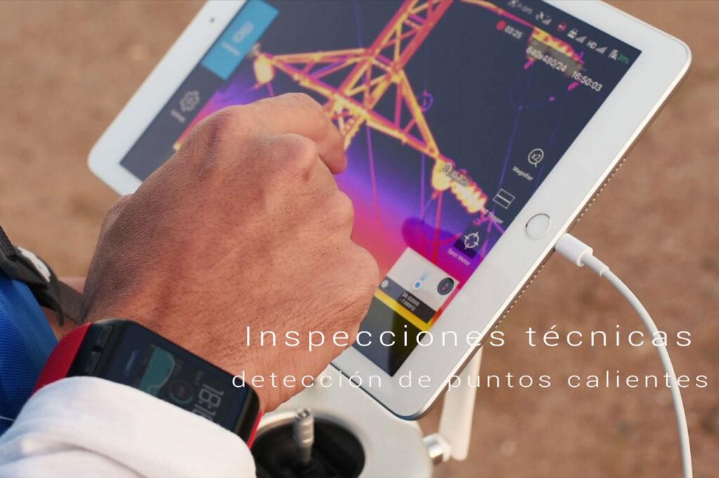 Inspecciones Técnicas termográficas con drones. Detección de puntos calientes en líneas eléctricas y apoyos.