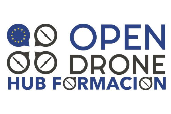 Logo formación Open Drone - Hub Formación. Formación como piloto de drones. Piloto de dron