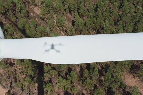 Inspecciones Técnicas con drones en parques eólicos. Mantenimieto preventico de palas de aerogeneradores.