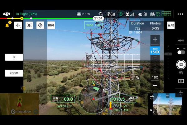 Inspección Técnica con drones usando tecnología zoom y rtk. Inspección muy precisa con dron.