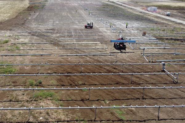Evolución de obras con drones. Seguimientode obras e infraestructura con un dron. Planta solar